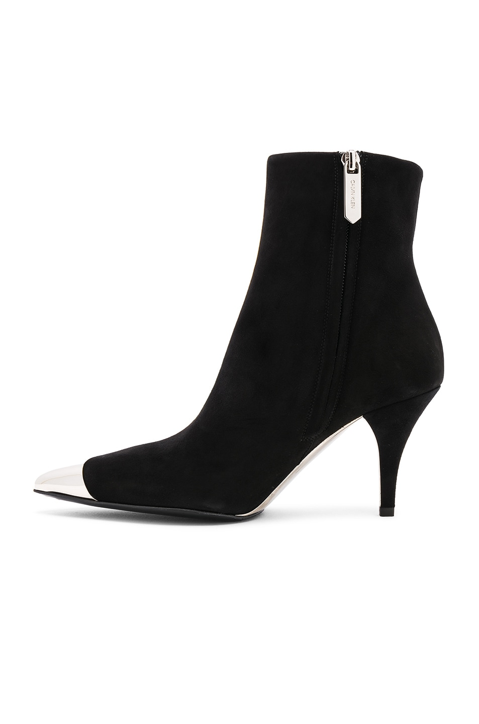 Image 5 of CALVIN KLEIN 205W39NYC Suede Rocio Stiletto Boots in Black