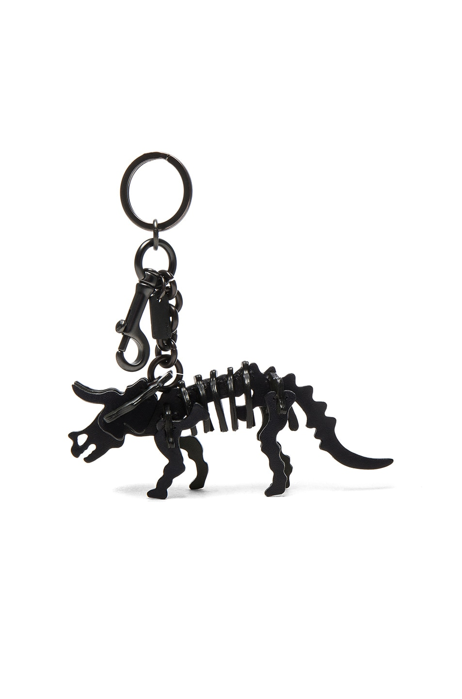 Image 1 of Coach 1941 Triceratops Keychain in Navy & Olive