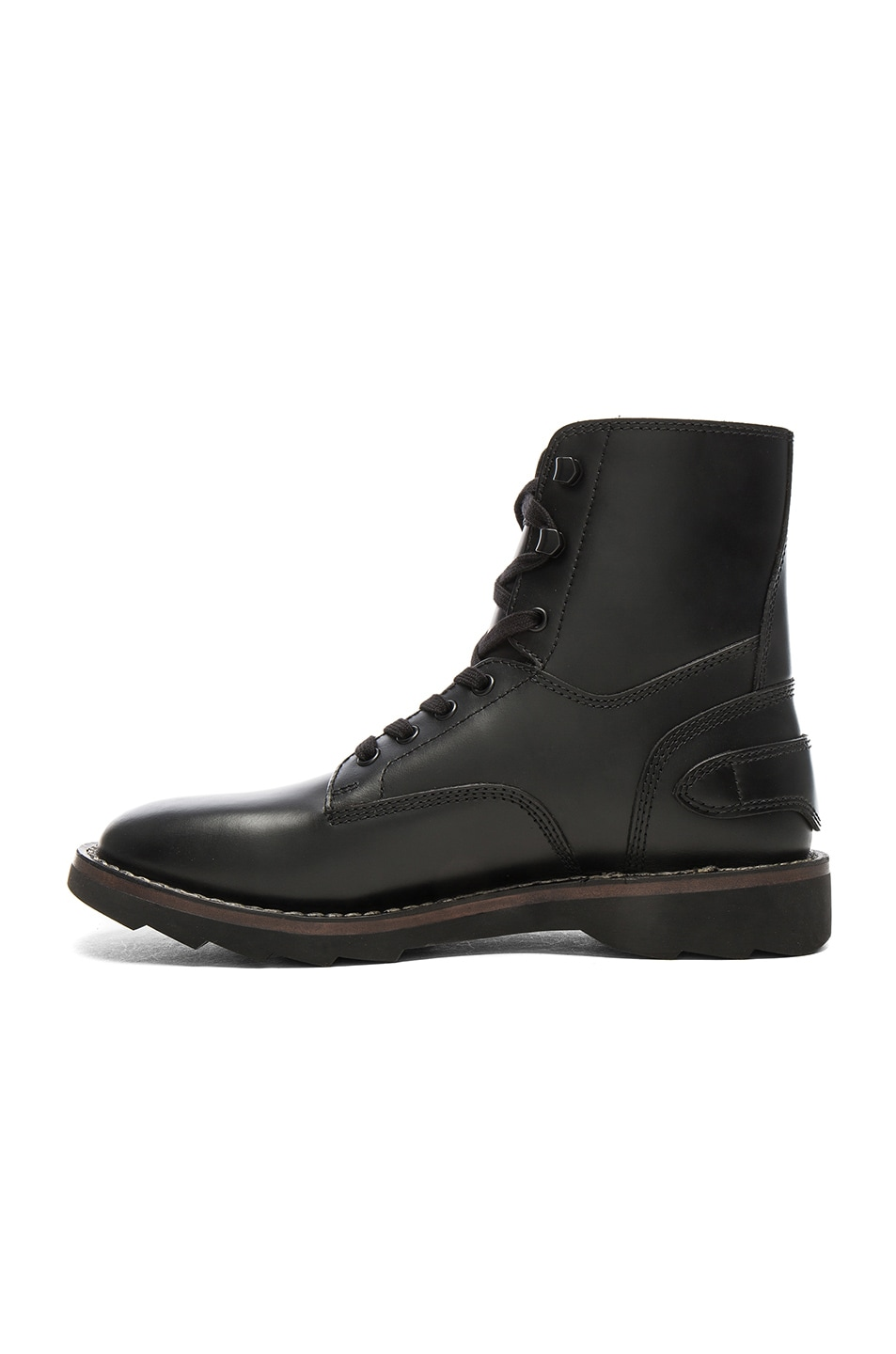 Image 5 of Coach 1941 Leather Combat Boots in Black