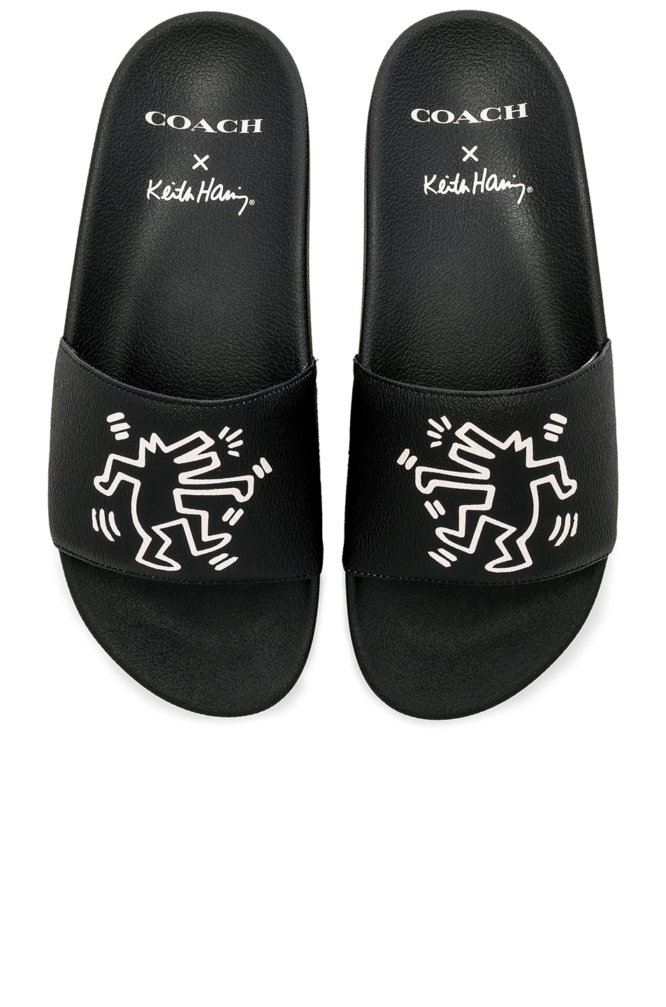 62412d7af764 Image 1 of Coach 1941 x Keith Haring Barking Dog Slides in Black
