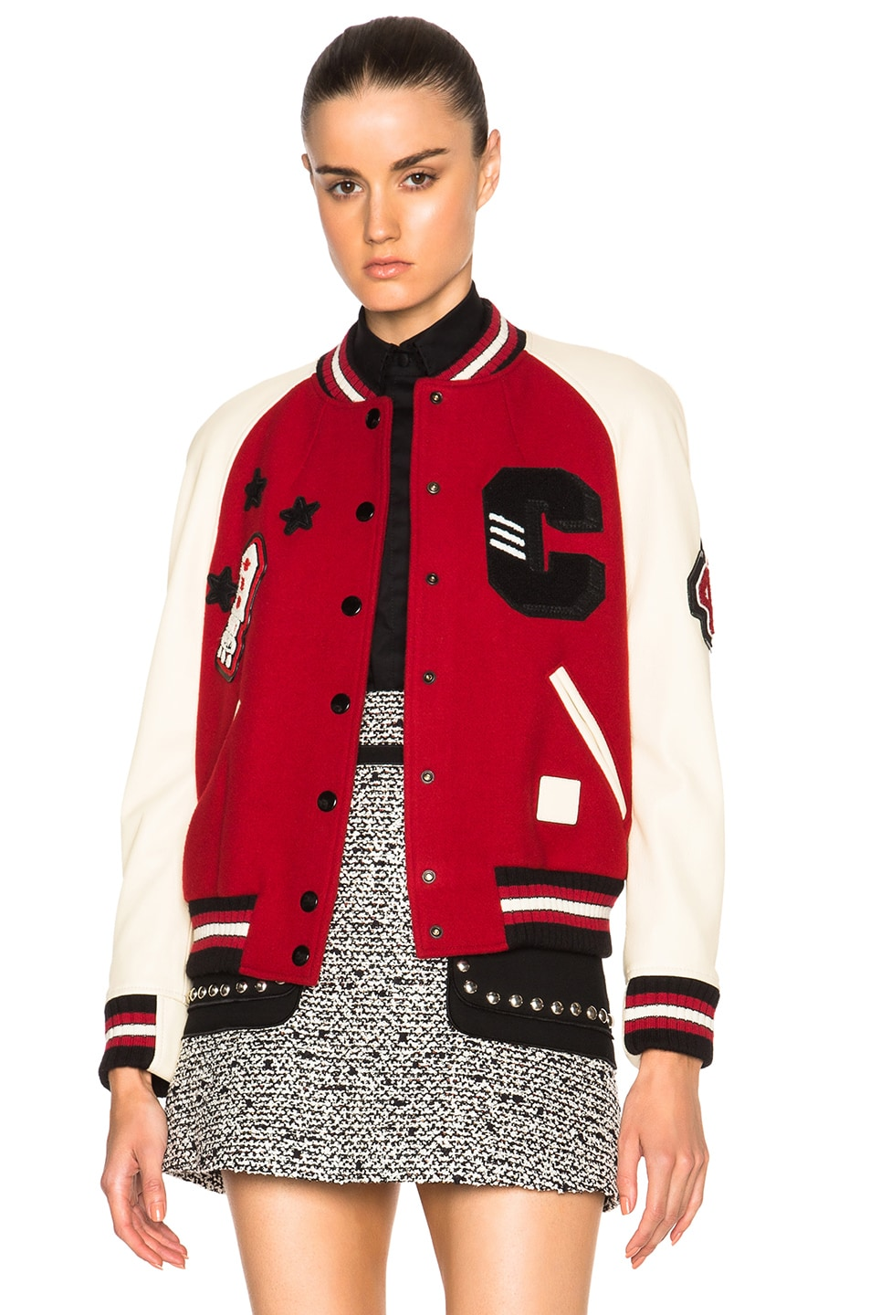 Image 1 of Coach 1941 Essential Varsity Jacket in Red