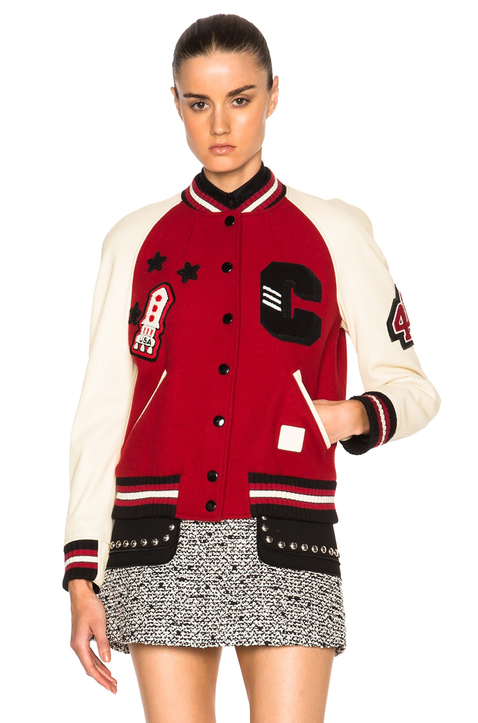 Image 2 of Coach 1941 Essential Varsity Jacket in Red