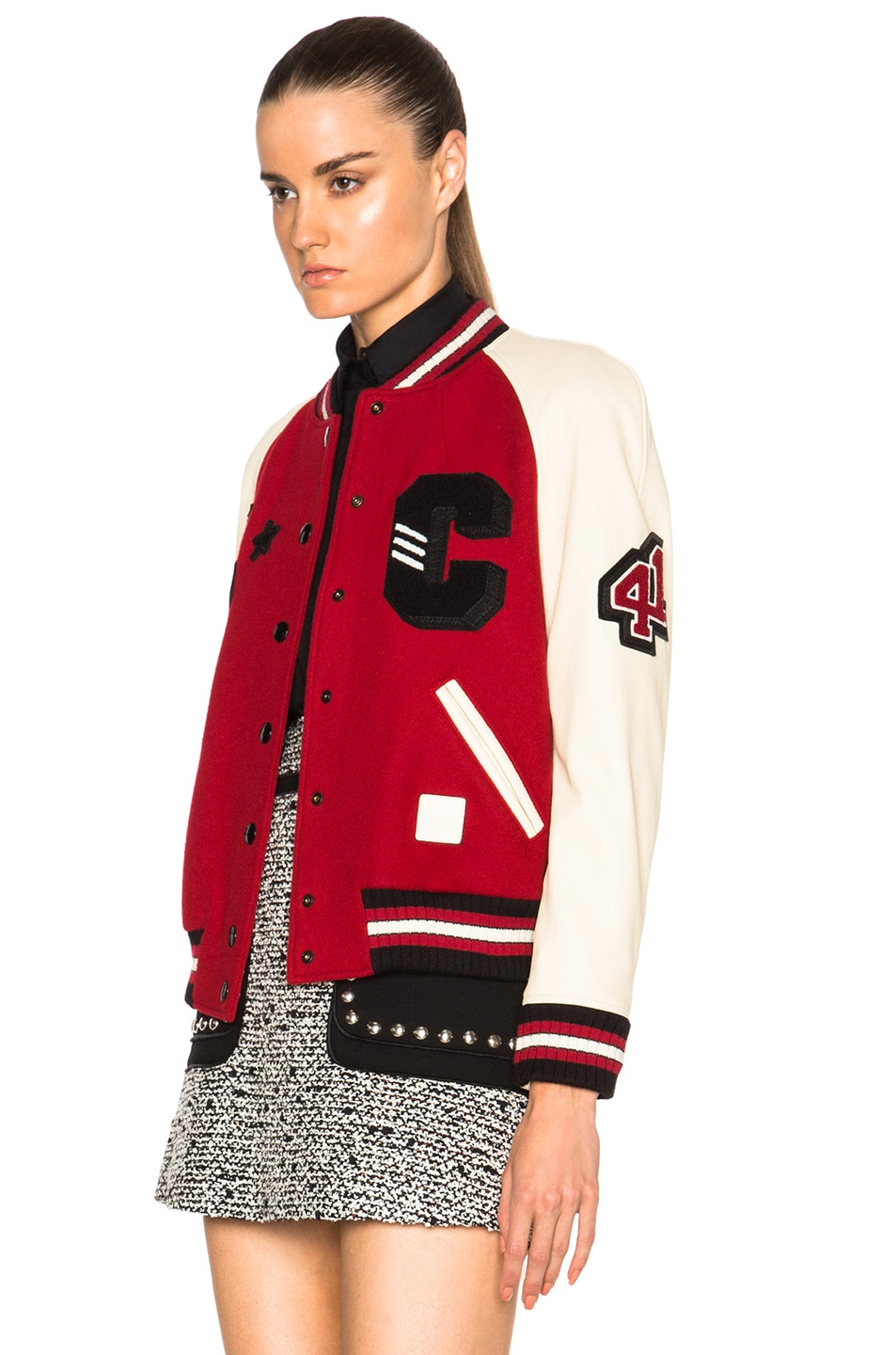 Image 3 of Coach 1941 Essential Varsity Jacket in Red