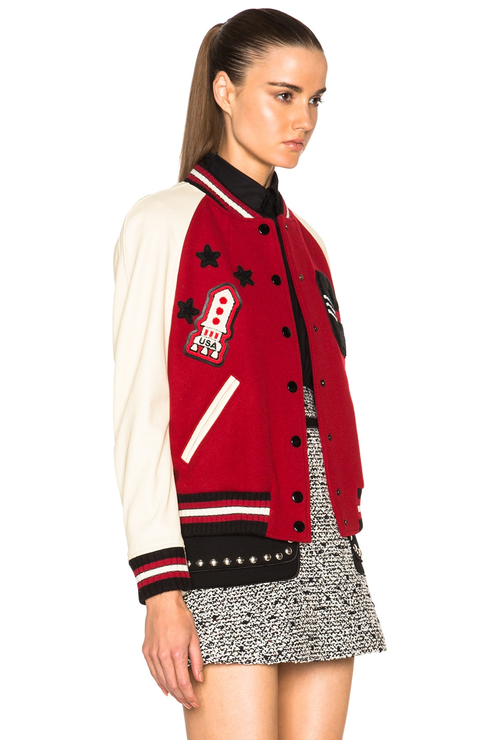 Image 4 of Coach 1941 Essential Varsity Jacket in Red