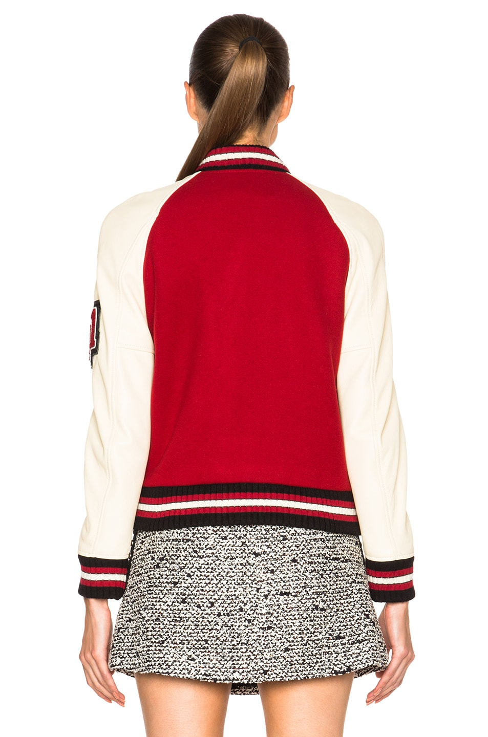 Image 5 of Coach 1941 Essential Varsity Jacket in Red
