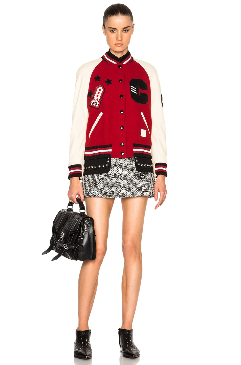 Image 6 of Coach 1941 Essential Varsity Jacket in Red