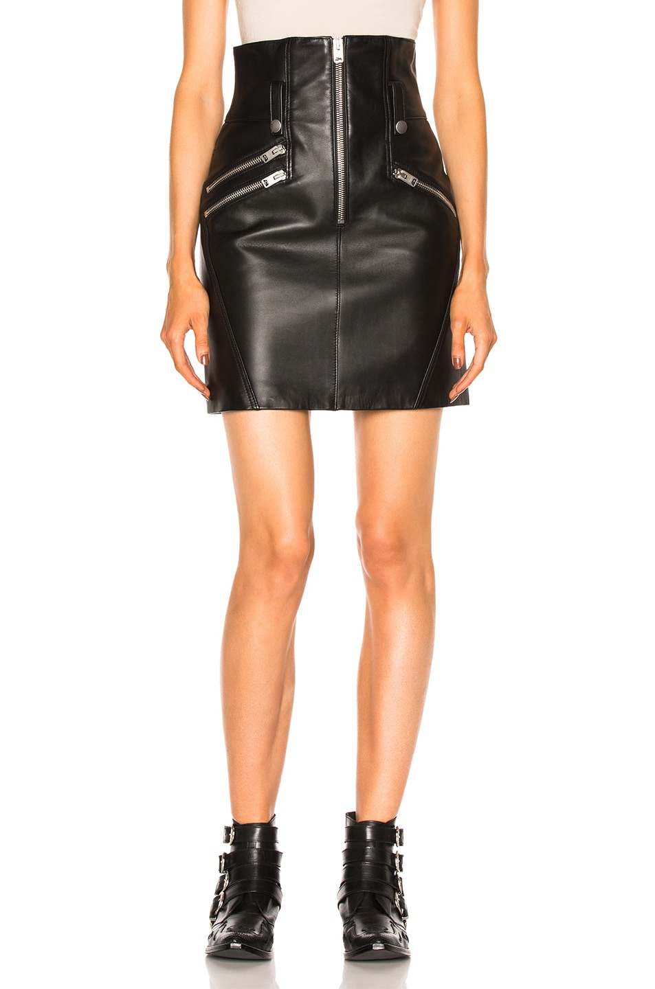 Image 1 of Coach High Waisted Skirt in Black
