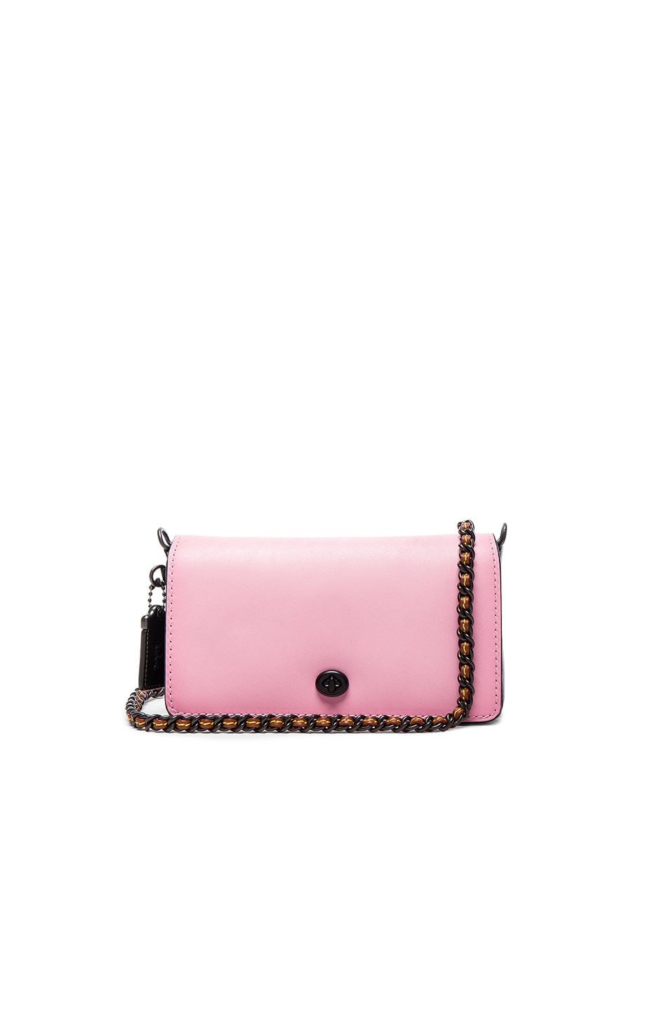 Image 1 of Coach 1941 Colorblock Leather Dinky Bag in Petal & Black
