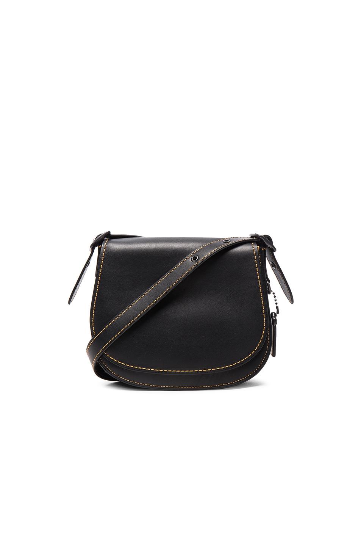 Image 1 of Coach Saddle 23 Bag in Black