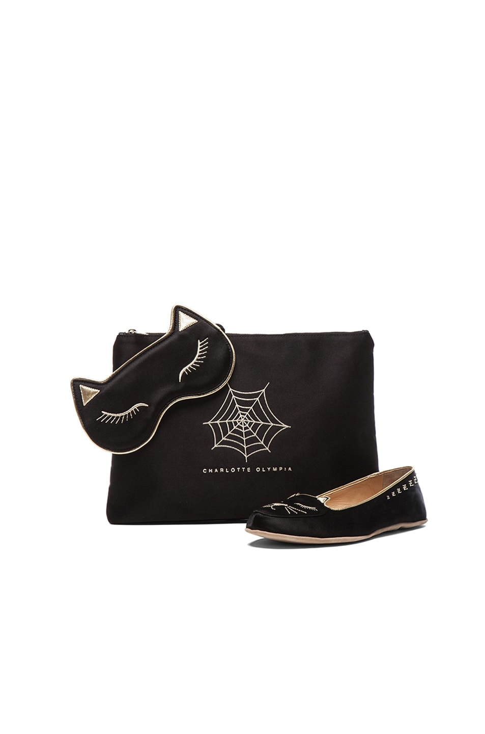 Image 1 of Charlotte Olympia Cat Nap Set in Black