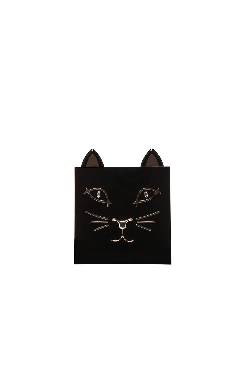 Image 1 of Charlotte Olympia Kitty Clutch in Black