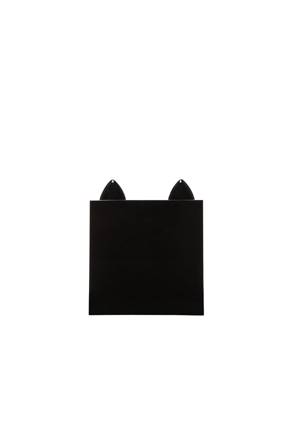 Image 3 of Charlotte Olympia Kitty Clutch in Black