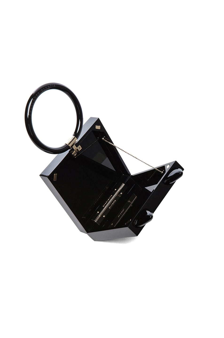 Image 5 of Charlotte Olympia Kitty Clutch in Black