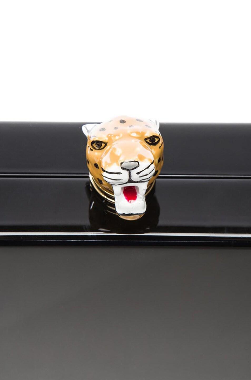 Image 6 of Charlotte Olympia Leopard Head Pandora Clutch in Black