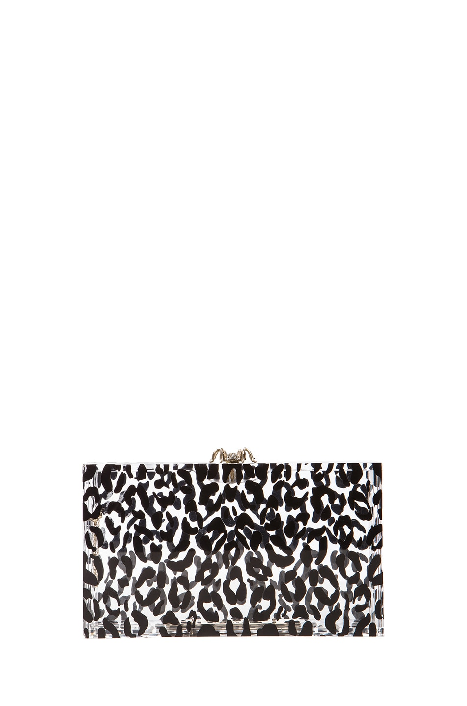 Image 3 of Charlotte Olympia Pandora Clutch in Transparent Leopard