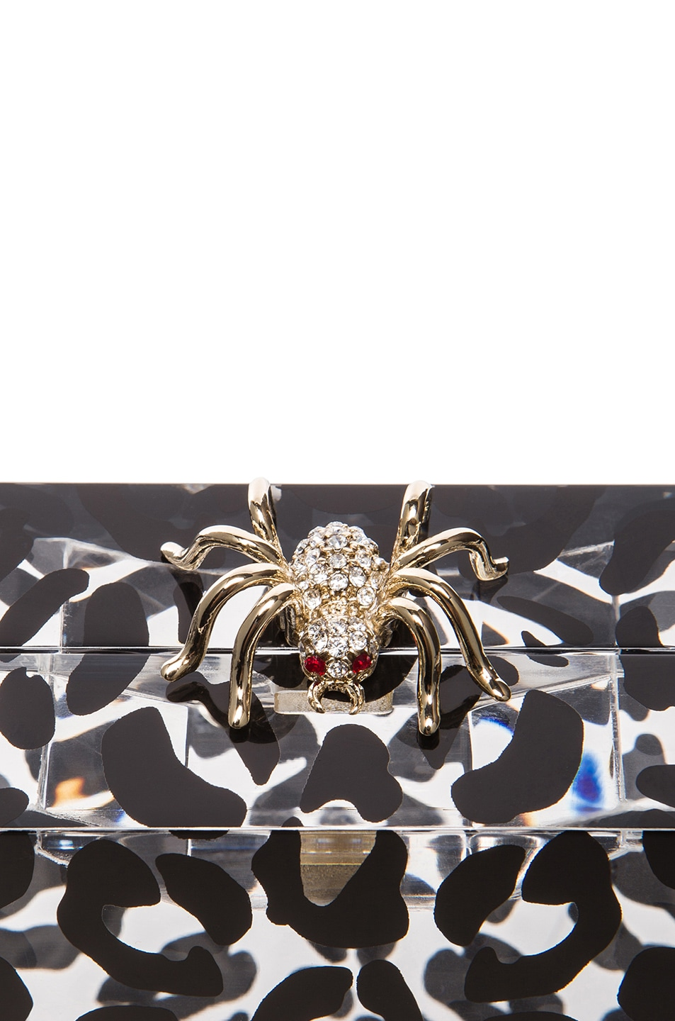 Image 5 of Charlotte Olympia Pandora Clutch in Transparent Leopard