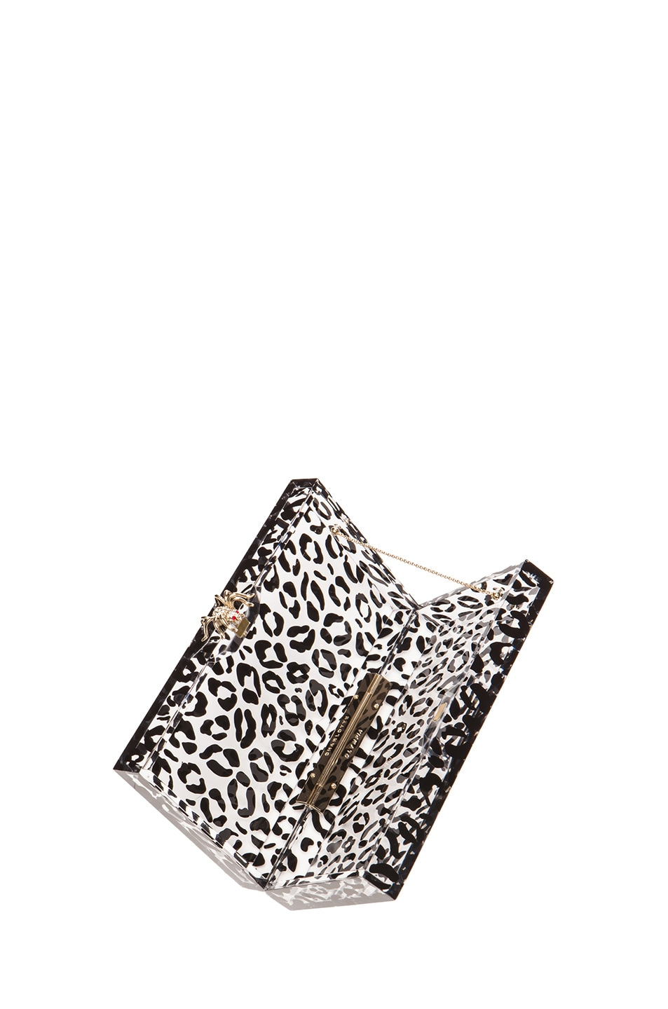 Image 6 of Charlotte Olympia Pandora Clutch in Transparent Leopard