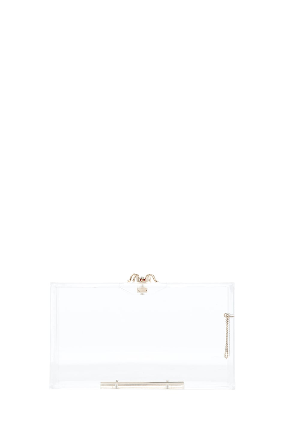 Image 2 of Charlotte Olympia Pandora Classic Clutch in Clear