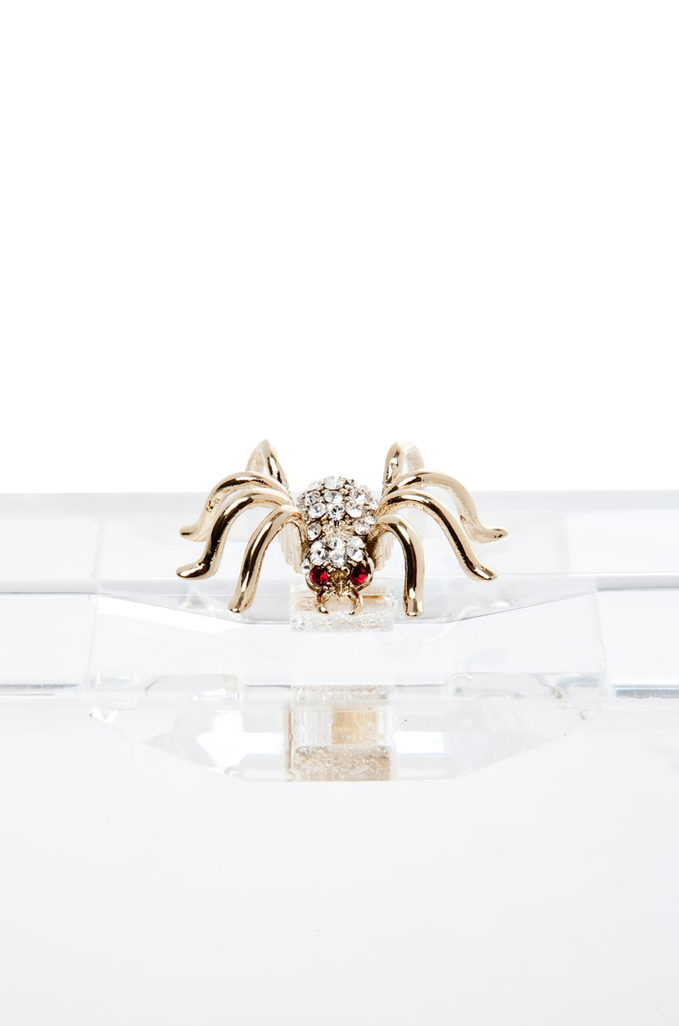 Image 4 of Charlotte Olympia Pandora Classic Clutch in Clear