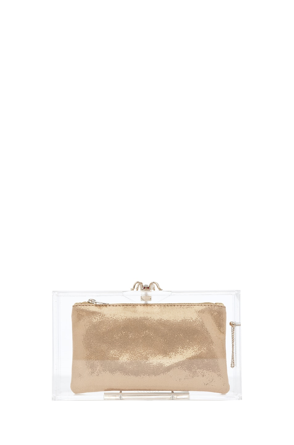 Image 5 of Charlotte Olympia Pandora Classic Clutch in Clear