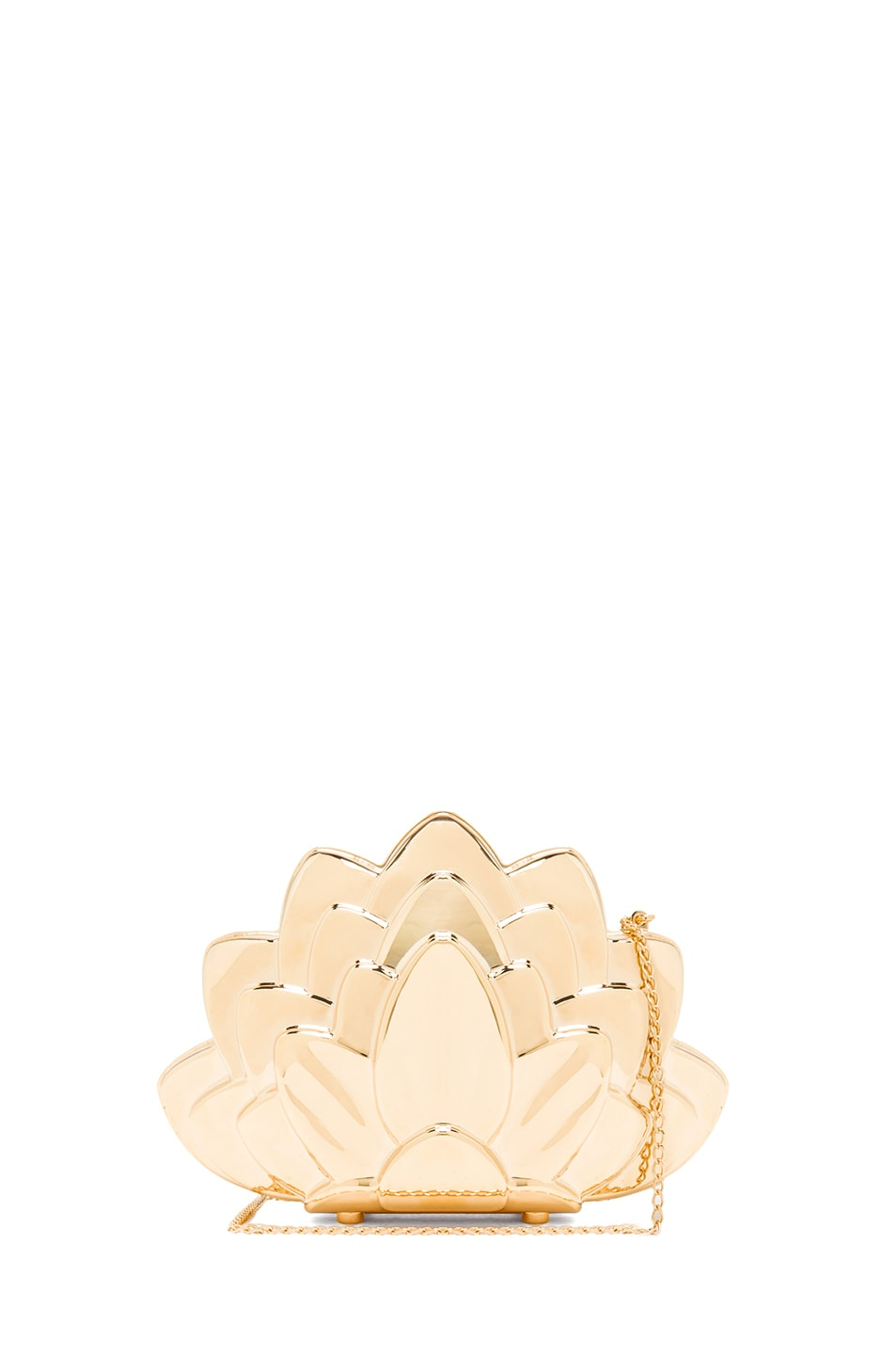 Image 1 of Charlotte Olympia Lotus Clutch in Gold