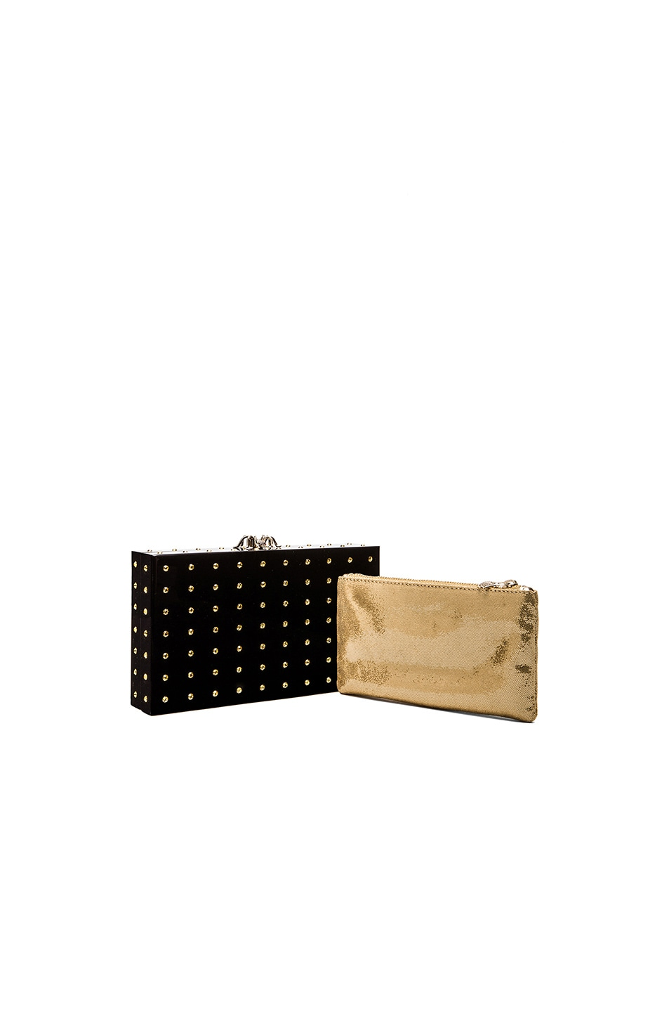 Image 1 of Charlotte Olympia Cactus Pandora Clutch in Black