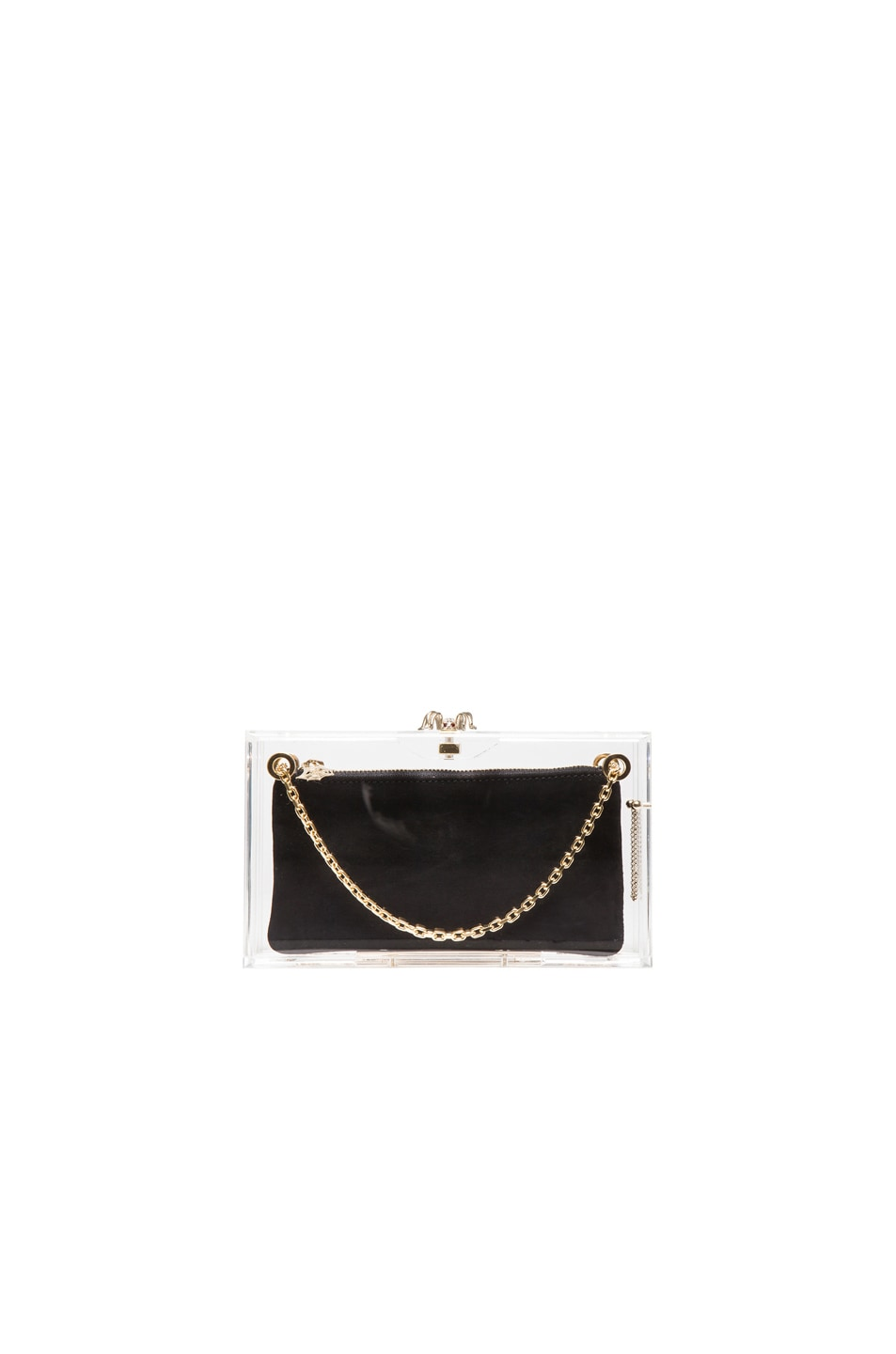 Image 1 of Charlotte Olympia Dora Clutch in Transparent