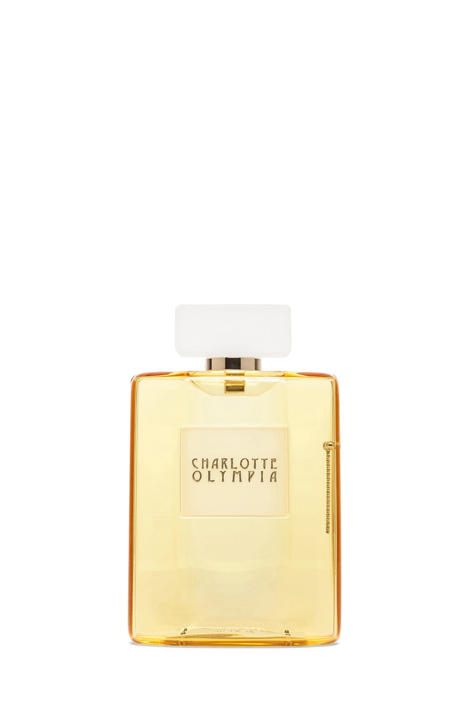 Image 1 of Charlotte Olympia Perfume Bottle Clutch in Yellow