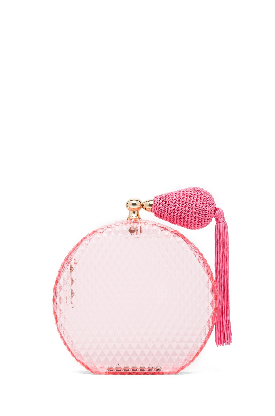 Image 1 of Charlotte Olympia Perfume Bottle Clutch in Pink