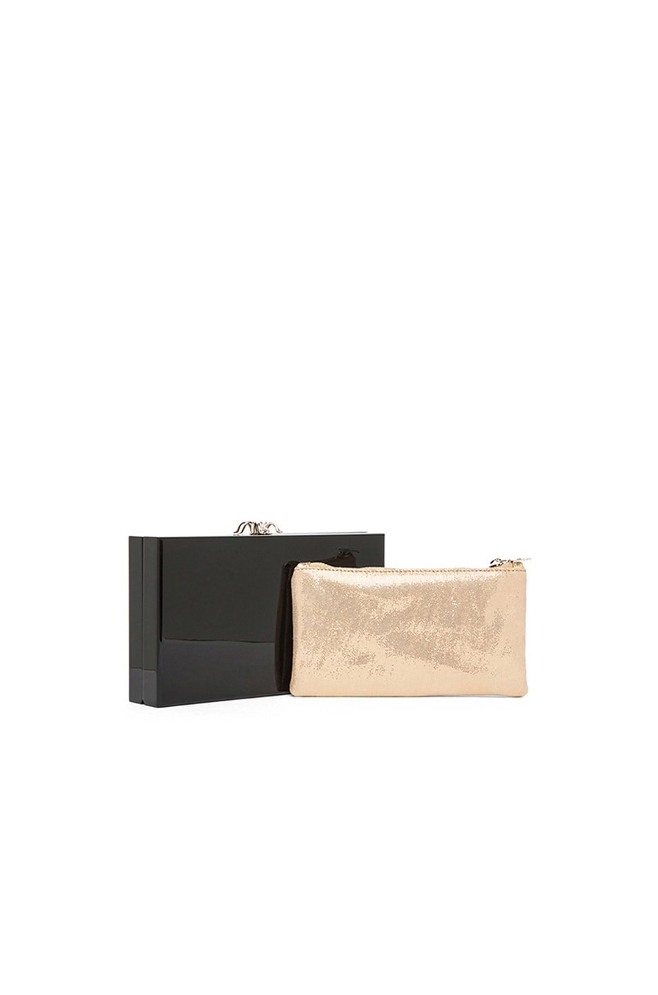 Image 1 of Charlotte Olympia Pandora Clutch in Black