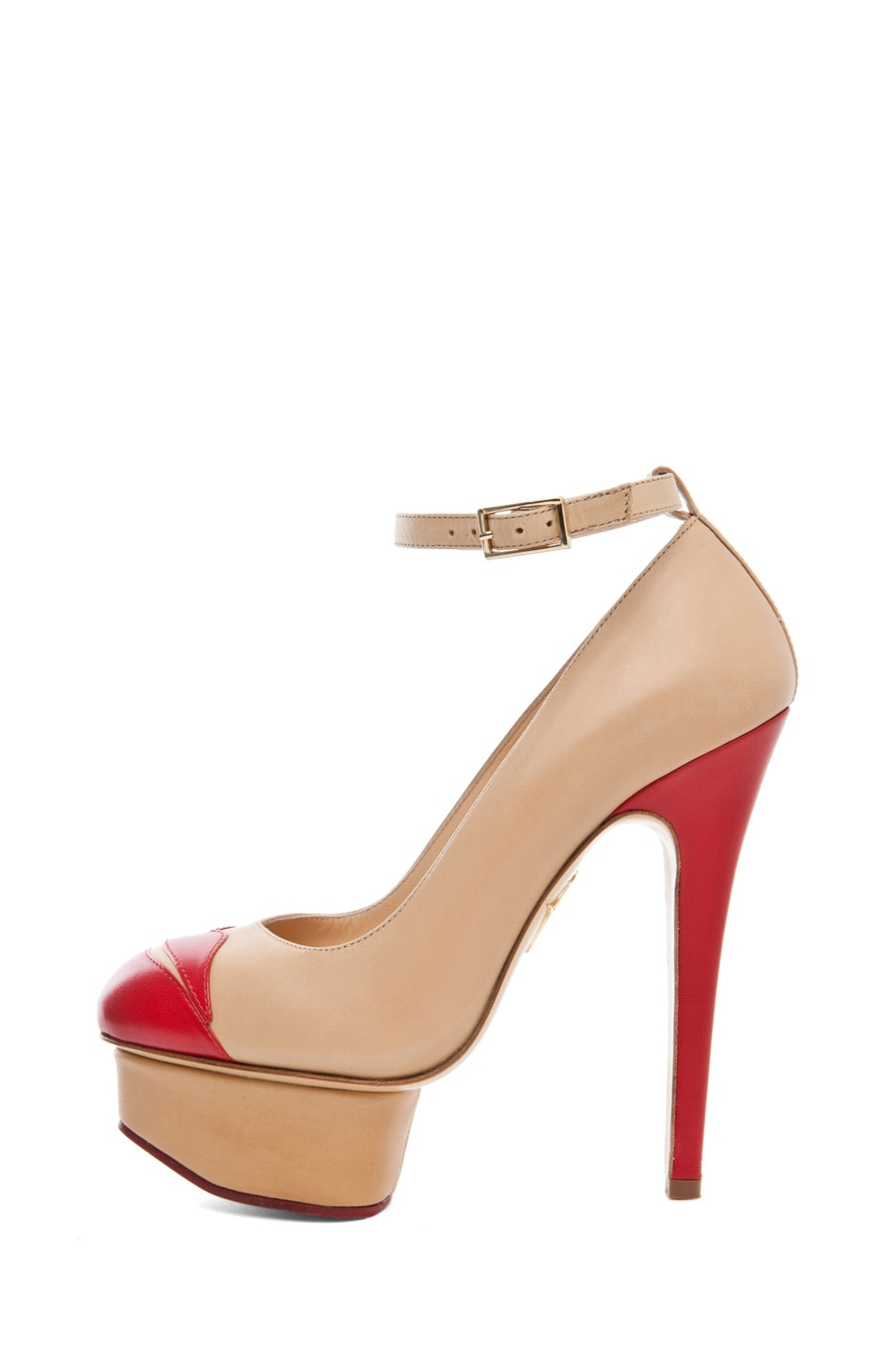 Image 1 of Charlotte Olympia Kiss Me Dolores Ankle Strap Platform in Ivory
