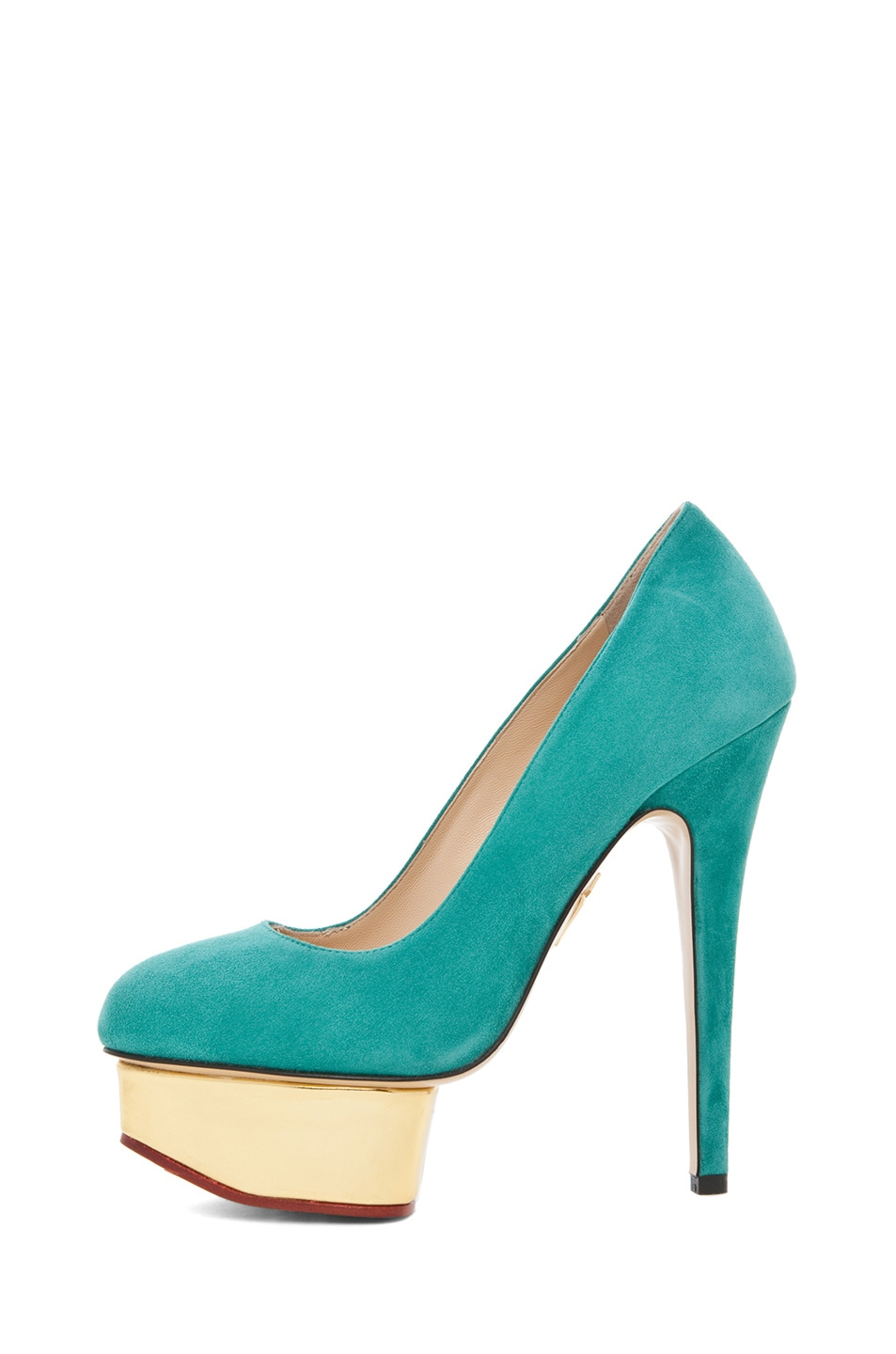 Image 1 of Charlotte Olympia Dolly Signature Court Island Platform in Green