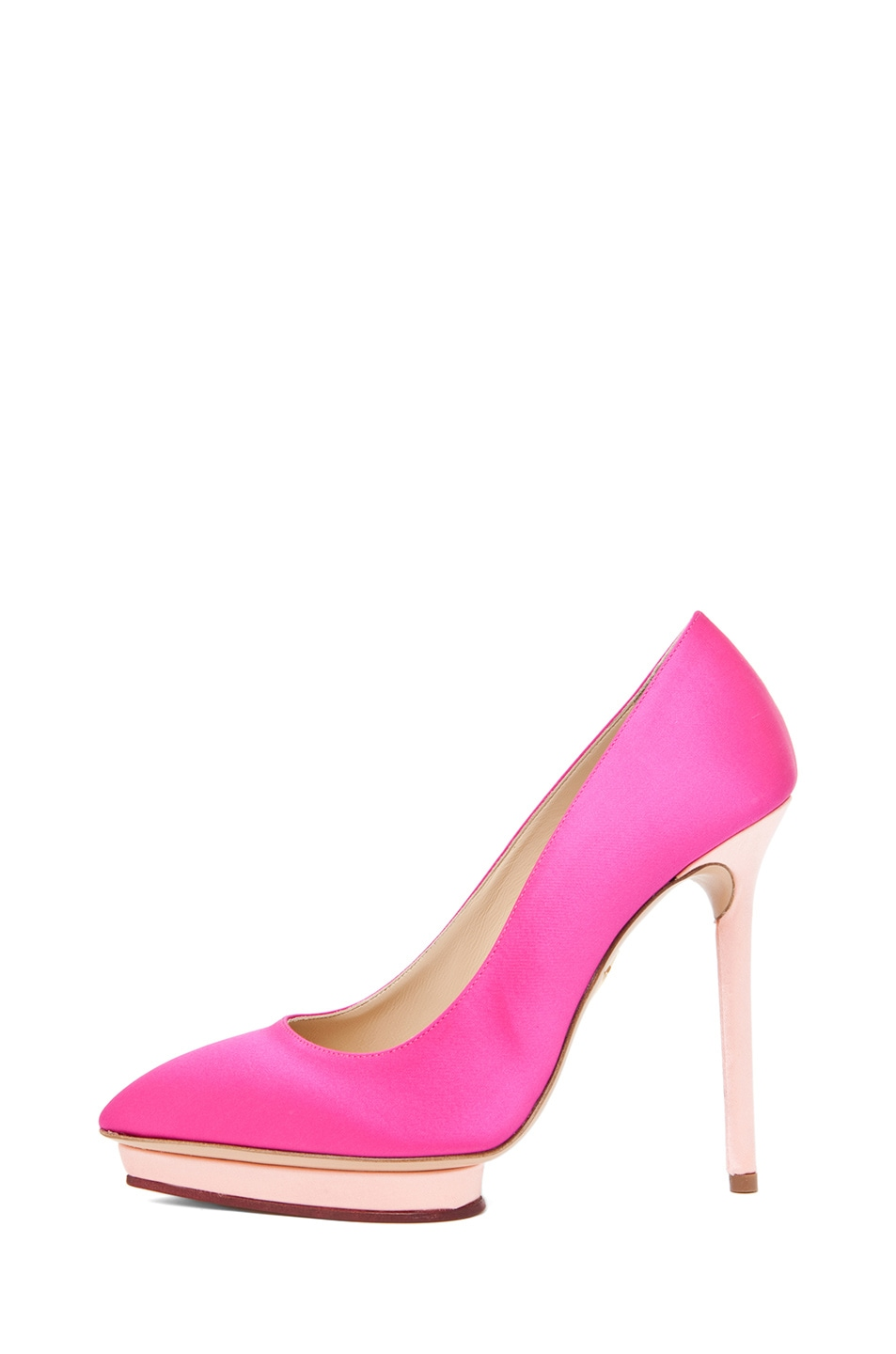 Image 1 of Charlotte Olympia Debonaire Pump in Fuchsia & Rose