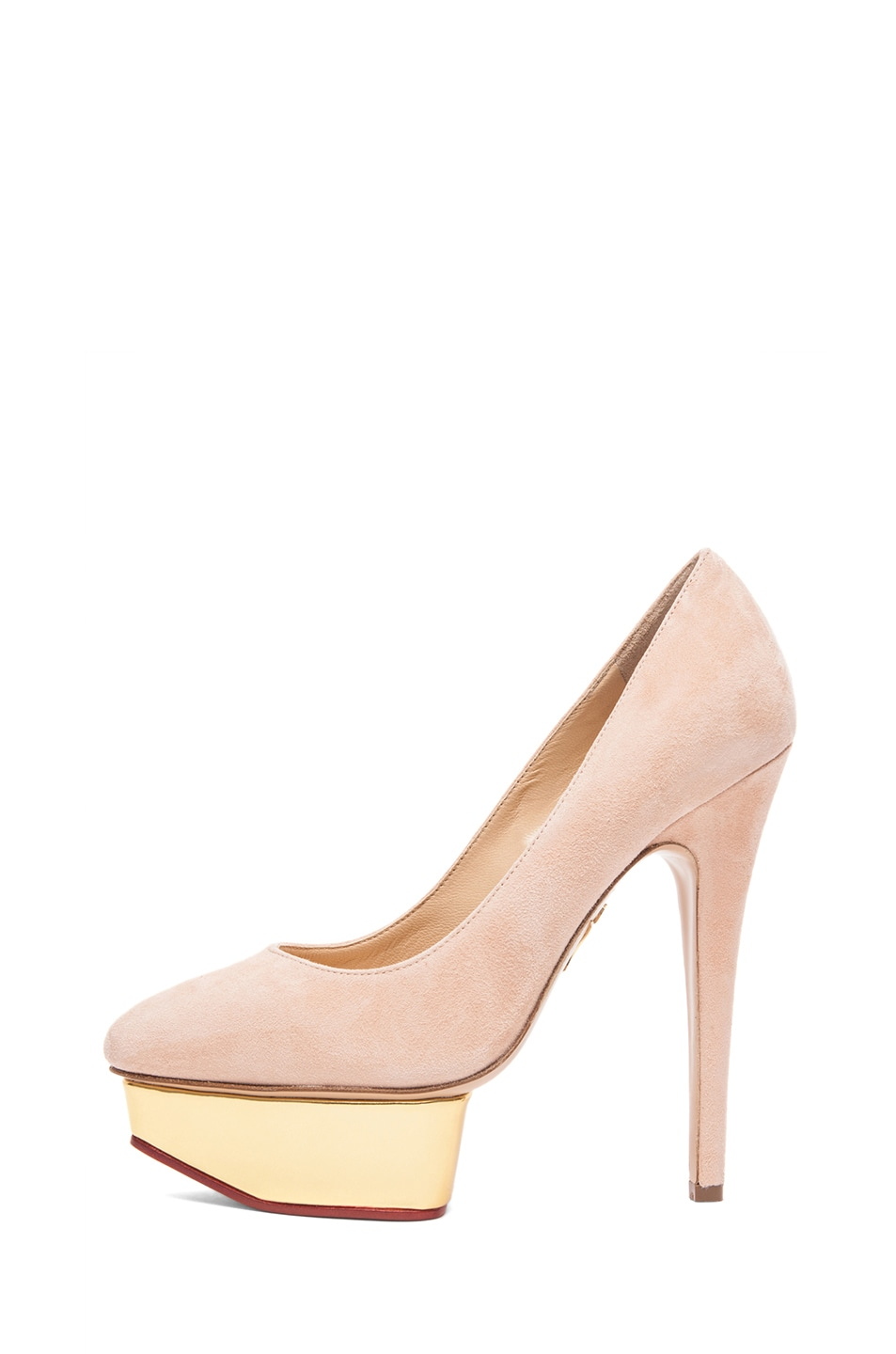 Image 1 of Charlotte Olympia Cindy Suede Pumps in Blush