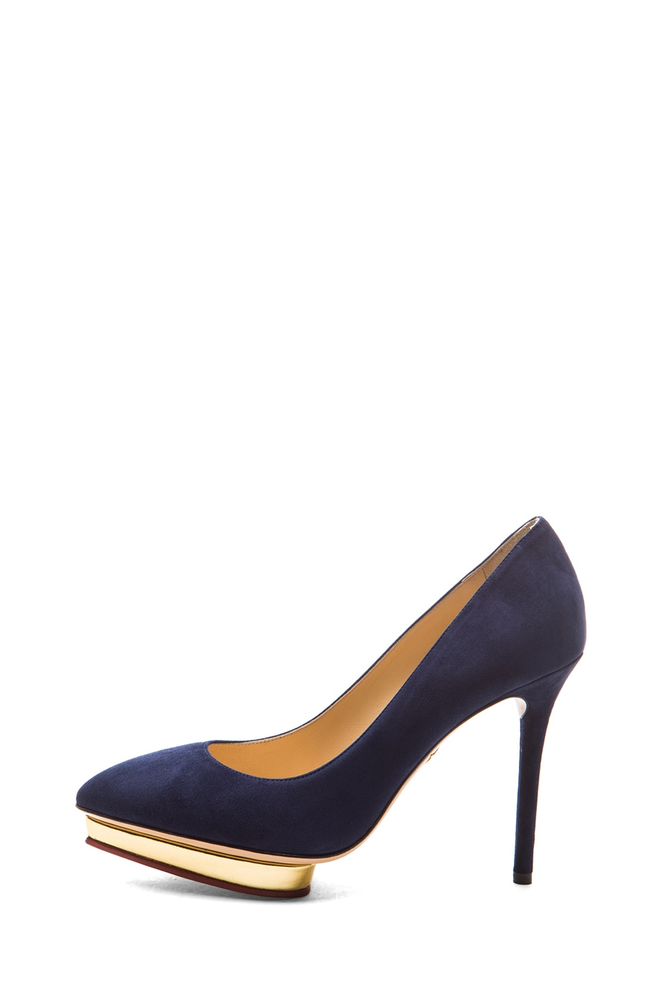 Image 1 of Charlotte Olympia Debbie Suede Pumps in Midnight