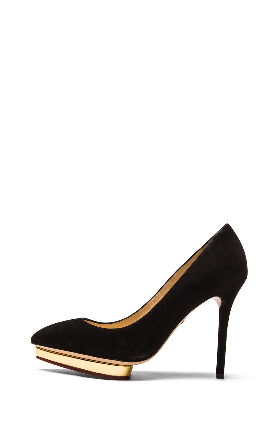 Image 1 of Charlotte Olympia Debbie Suede Pumps in Black