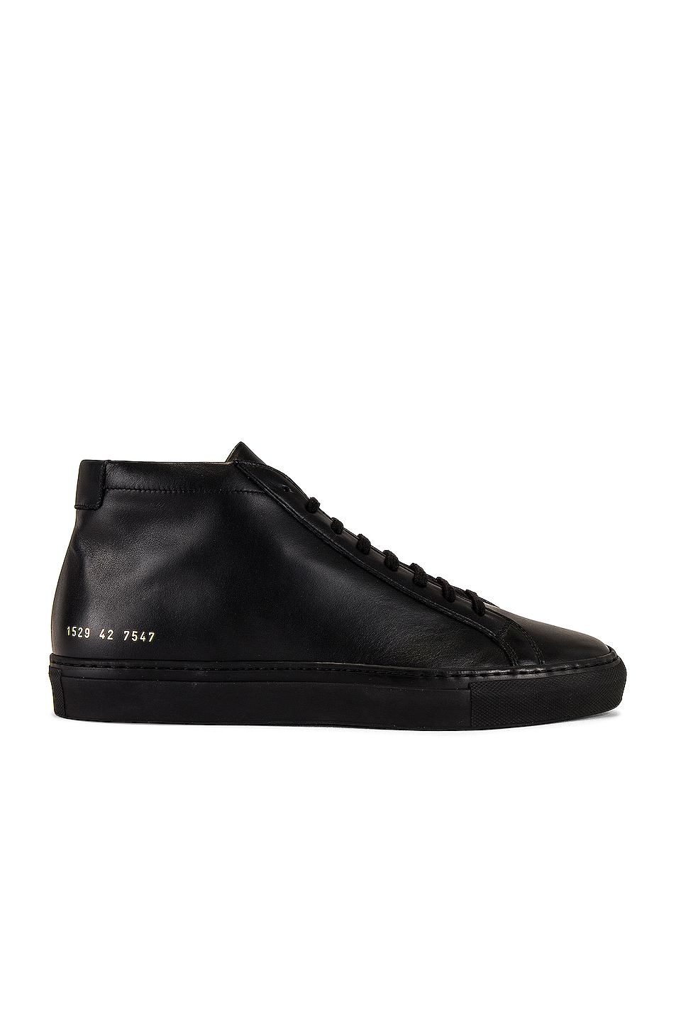 Image 1 of Common Projects Original Leather Achilles Mid in Black