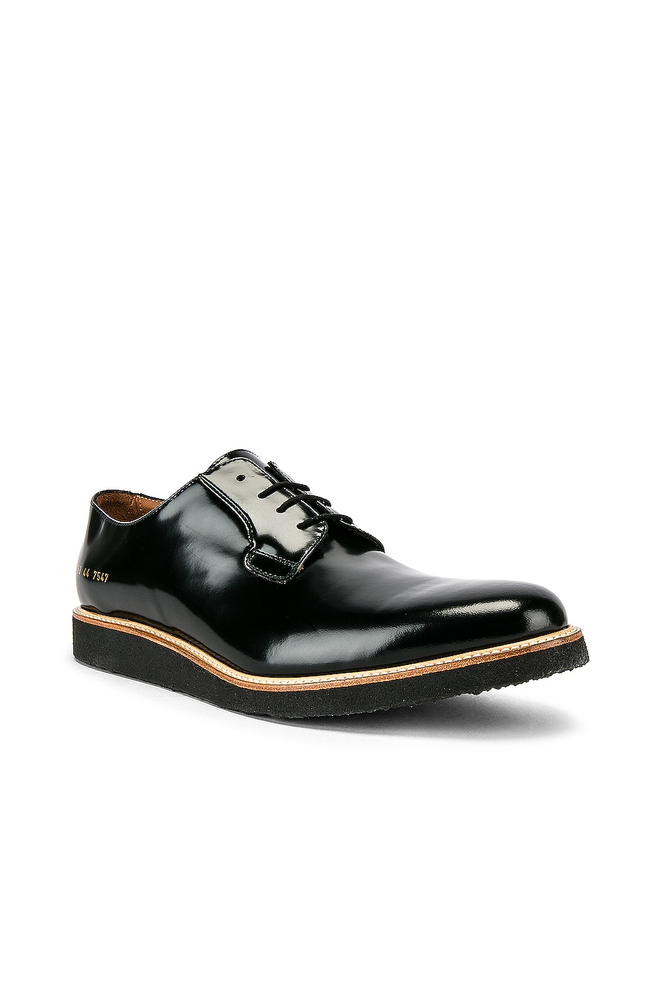 Image 2 of Common Projects Leather Derby Shine in Black
