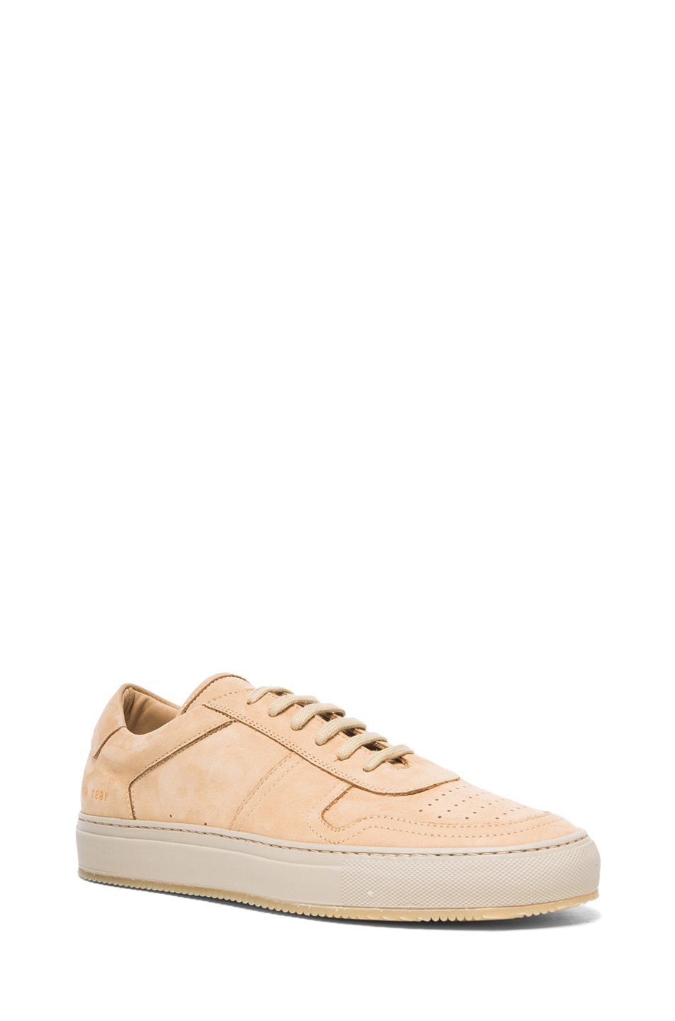 2180e45ff7e Image 1 of Common Projects Low Basketball Suede Sneakers in Tan