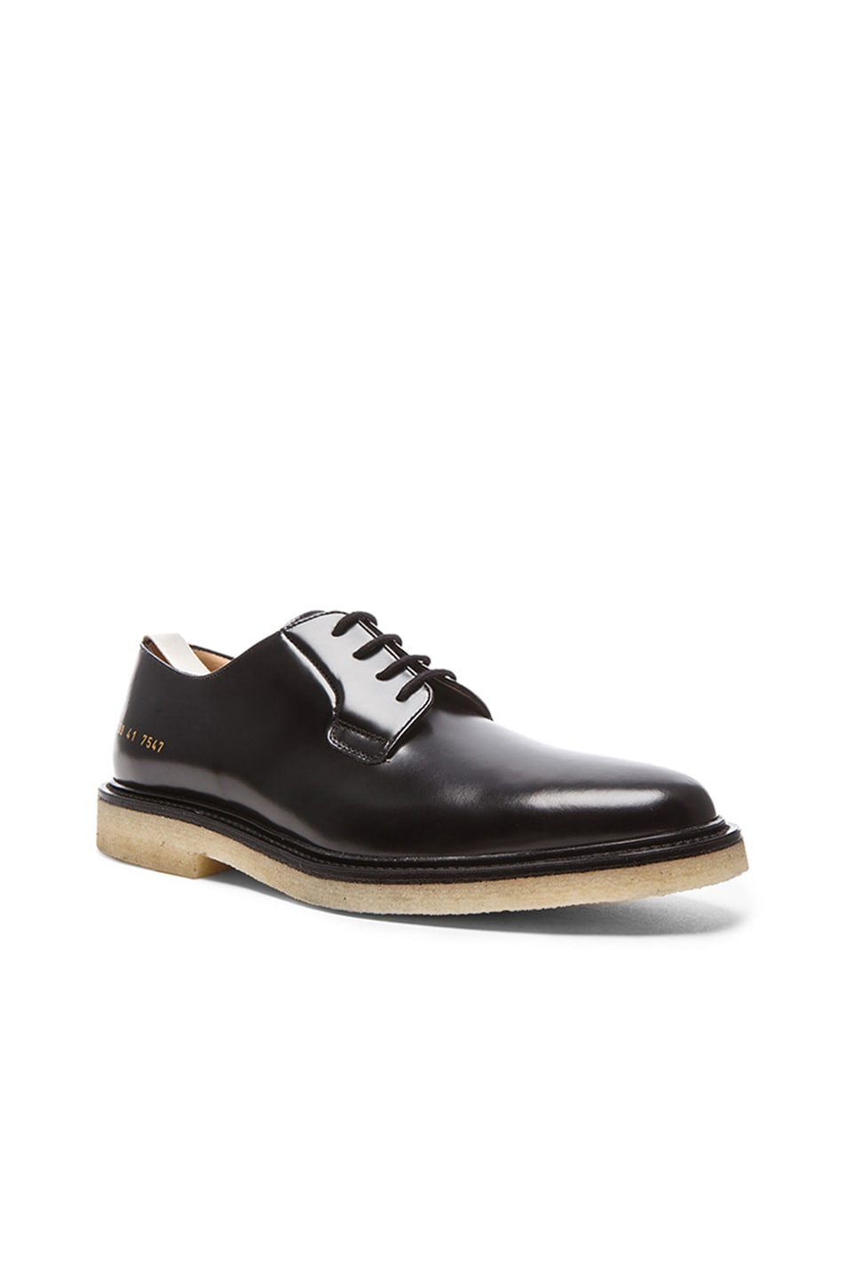 44ed30118422 Image 1 of Common Projects Cadet Leather Derby Shoes in Black