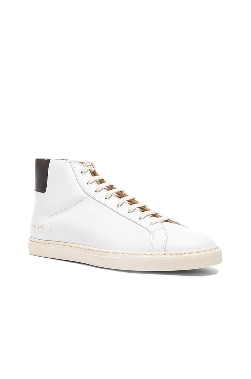 2e8d36791a602 Image 1 of Common Projects Achilles Retro Leather High Tops in Black   White