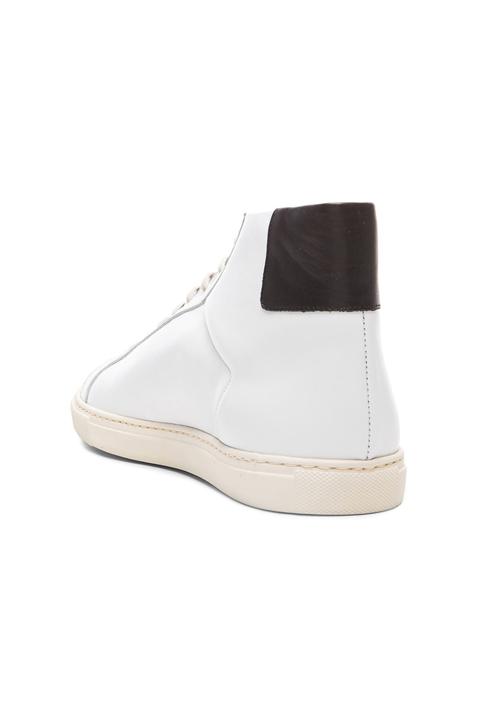 8cd4eb39d9f3b Image 3 of Common Projects Achilles Retro Leather High Tops in Black   White