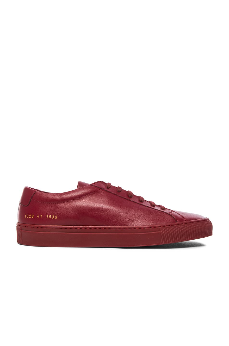 b0a8c4a140f6 Image 2 of Common Projects Original Achilles Leather Low in Red