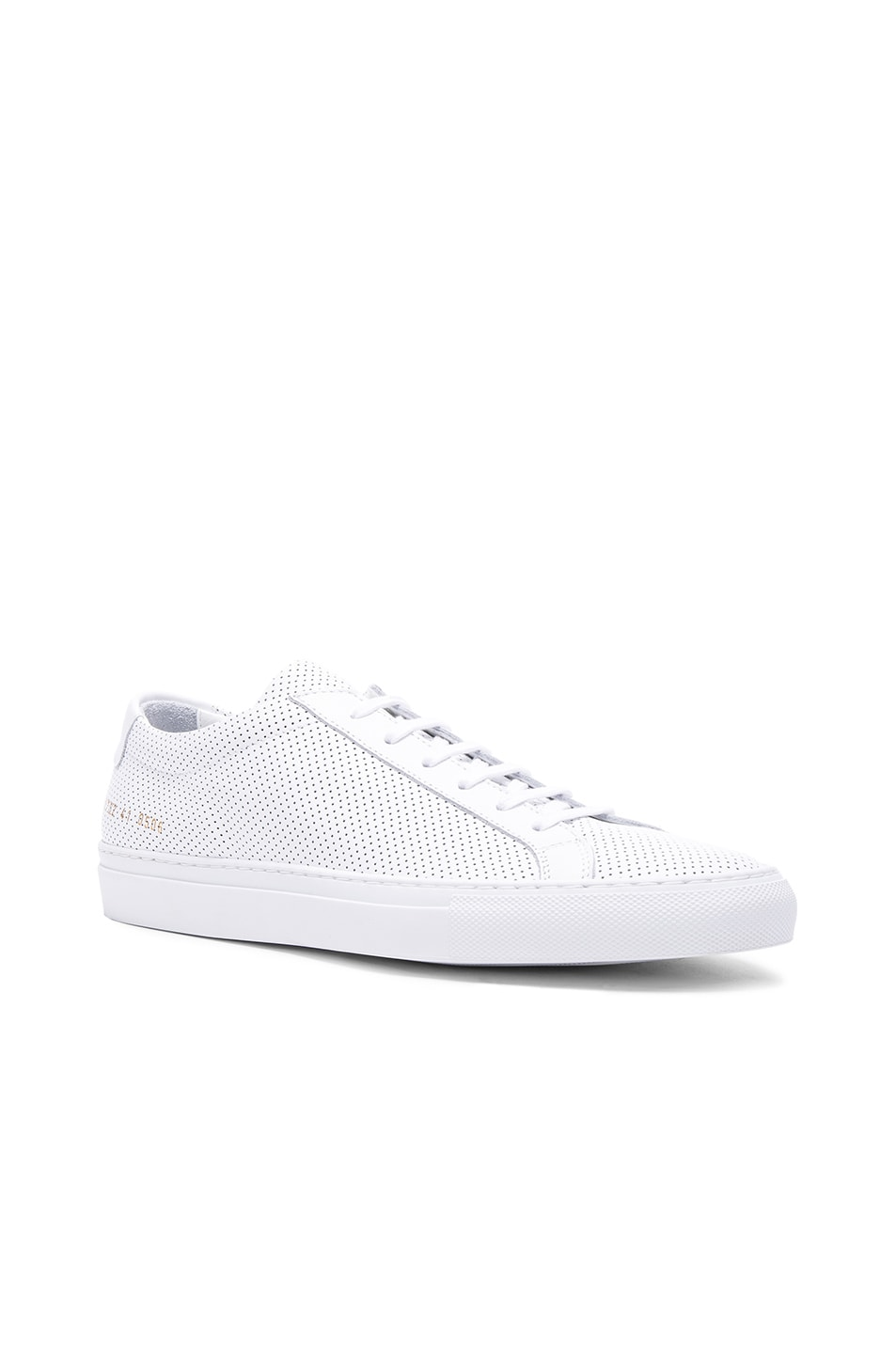 Image 1 of Common Projects Original Perforated Leather Achilles Low in White