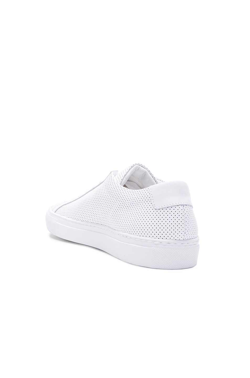 Image 3 of Common Projects Original Perforated Leather Achilles Low in White