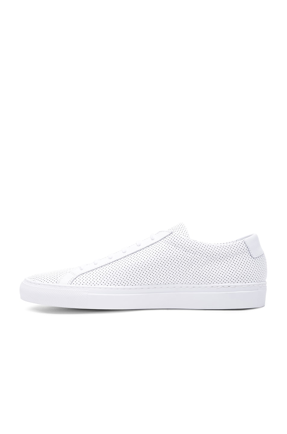 Image 5 of Common Projects Original Perforated Leather Achilles Low in White
