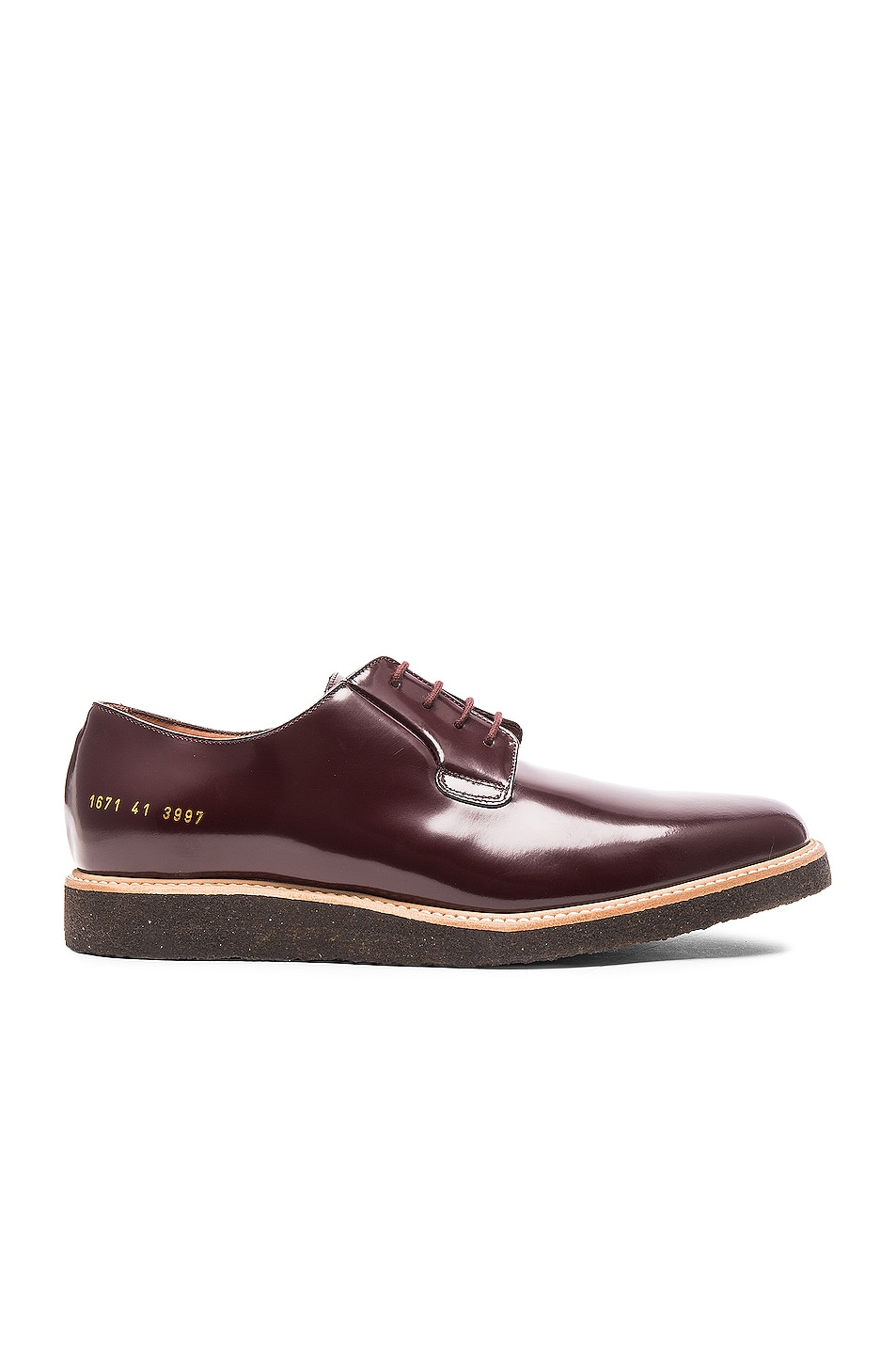 Image 1 of Common Projects Derby Leather Shine in Oxblood