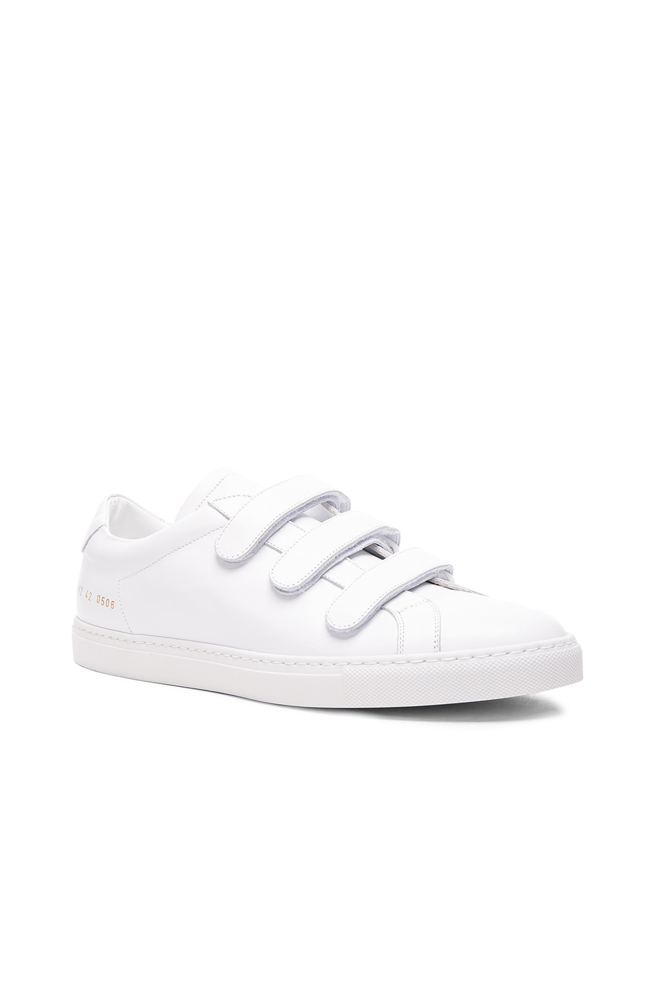 Image 1 of Common Projects Leather Achilles Three Strap in White