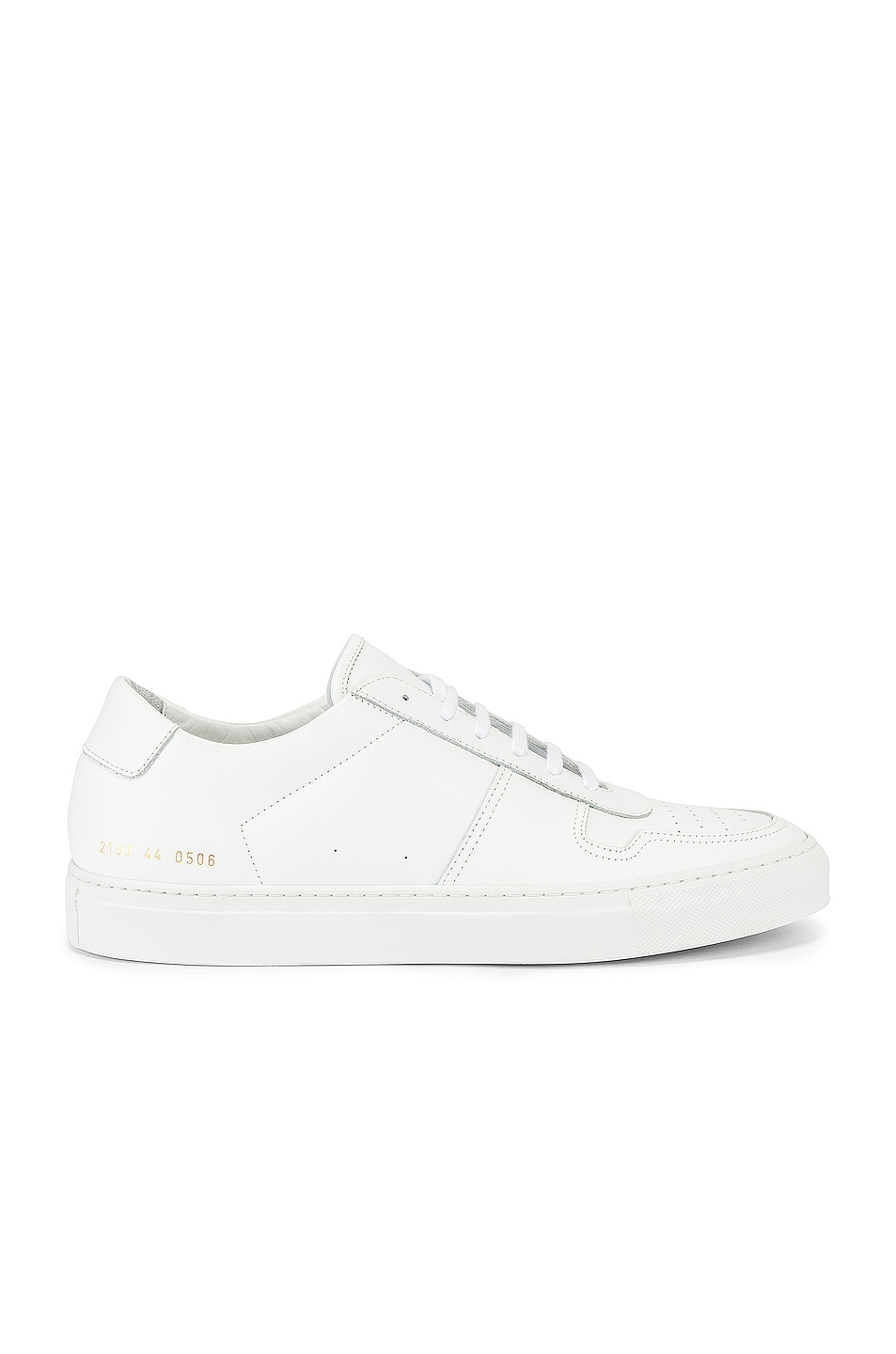Image 1 of Common Projects Leather BBall Low in White