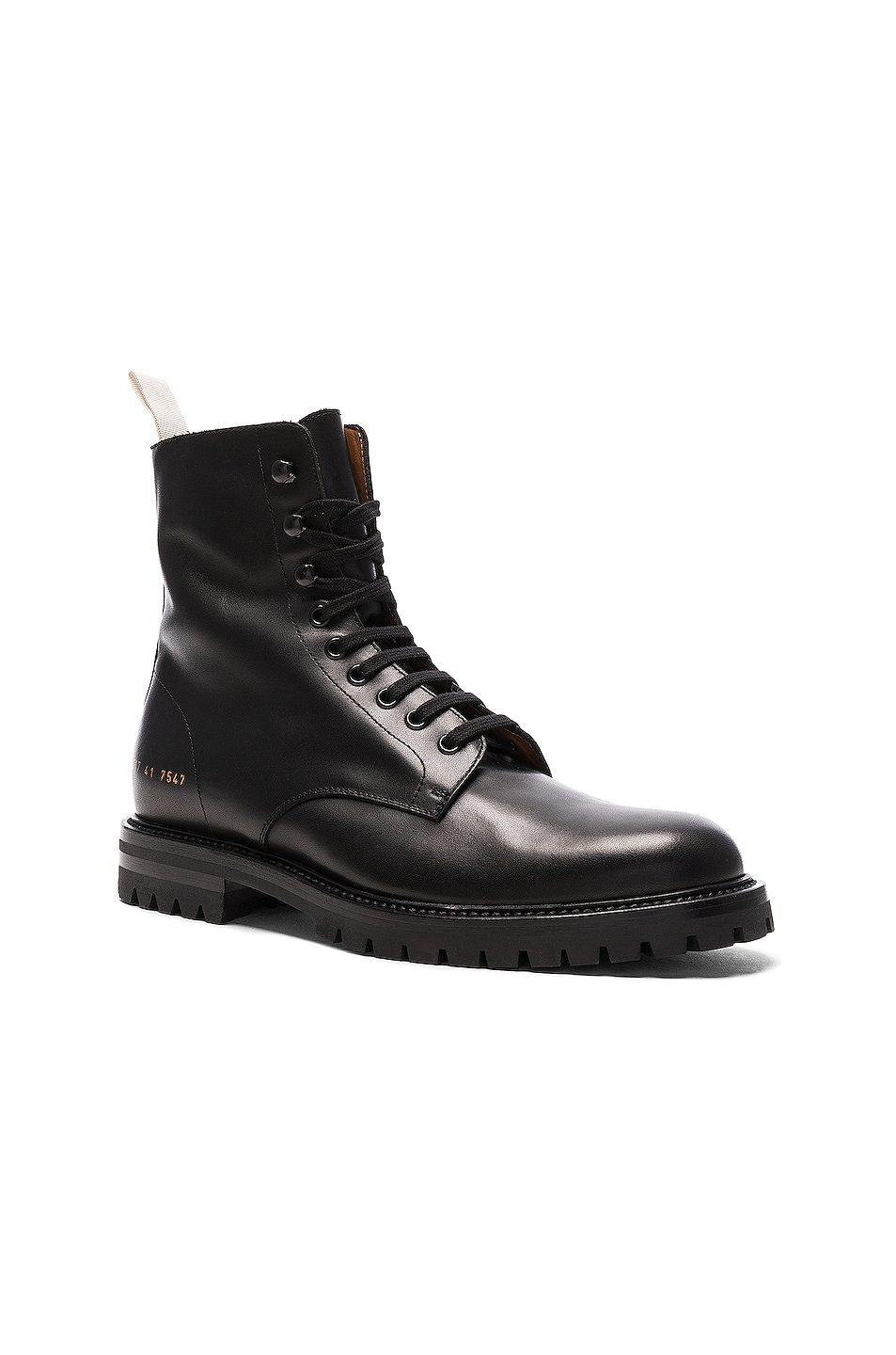 9bdec7548461f Image 2 of Common Projects Leather Winter Combat Boots in Black